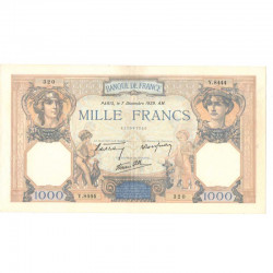 1000 Francs Ceres et Mercure 07/12/1939 SUP + ( 214  )