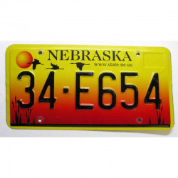 Plaque d Immatriculation USA - Nebraska ( 1266 )