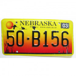 Plaque d Immatriculation USA - Nebraska ( 1264 )