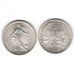 2 francs semeuse 1915 argent ( 008 )
