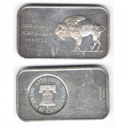 lingot d argent massif USA - 1 once ( 020 )