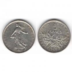 5 francs semeuse 1965 argent ( 002 )