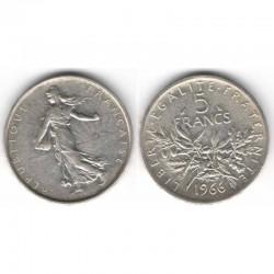 5 francs semeuse 1966 argent ( 003 )
