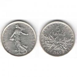 5 francs semeuse 1969 argent ( 004 )