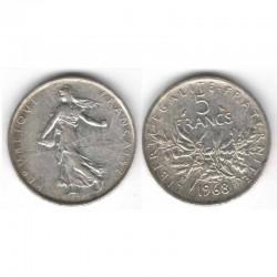 5 francs semeuse 1968 argent ( 006 )