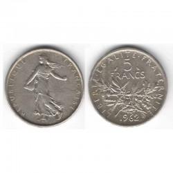 5 francs semeuse 1962 argent ( 007 )