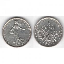 5 francs semeuse 1967 argent ( 010 )