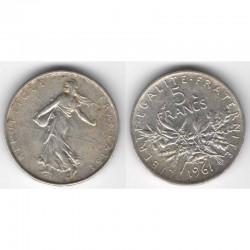 5 francs semeuse 1961 argent ( 012 )
