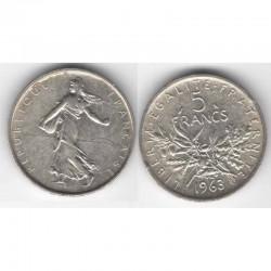5 francs semeuse 1963 argent ( 013 )