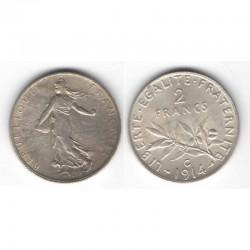 2 franc semeuse 1914 C argent ( 007 )