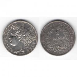 1 piece de 2 francs Ceres Argent 1887 A ( 009 )