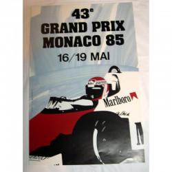 Affiche officilel Grand Prix F1 Monaco 1985