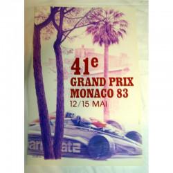 Affiche officilel Grand Prix F1 Monaco 1983