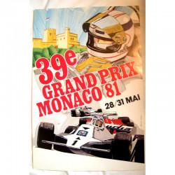 Affiche officilel Grand Prix F1 Monaco 1981