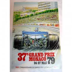 Affiche officilel Grand Prix F1 Monaco 1979