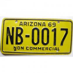 Plaque d Immatriculation USA - Arizona 1969 ( 137 )