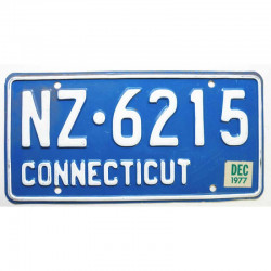 Plaque d Immatriculation USA - Connecticut 1977 ( 240 )