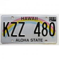 Plaque d Immatriculation USA - Hawaii 2012 ( 407 )