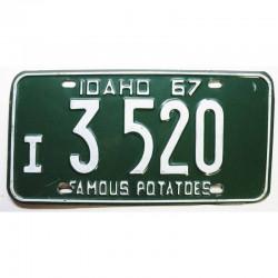 Plaque d Immatriculation USA - Idaho 1967 ( 1270 )