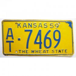 Plaque d Immatriculation USA - Kansas 1959 ( 448 )