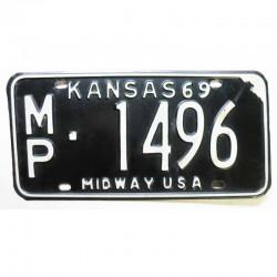 Plaque d Immatriculation USA - Kansas 1969 ( 675 )