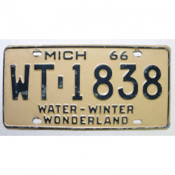 Plaque d Immatriculation USA - Michigan 1966 ( 313 )