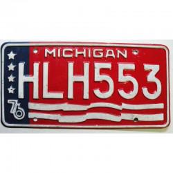 Plaque d Immatriculation USA - Michigan 1976 ( 722 )