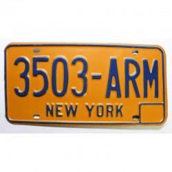 Plaque d Immatriculation USA - New York ( 731 )