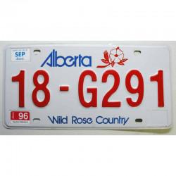 Plaque d Immatriculation Alberta 1996 ( 1114 )