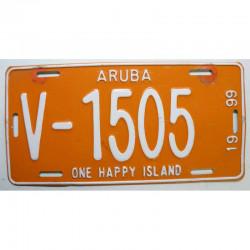 Plaque d Immatriculation Aruba 1999 ( 1268 )