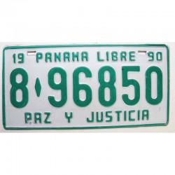 Plaque d Immatriculation Panama 1990 ( 694 )