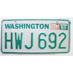Plaque d Immatriculation USA - Washington 1985 ( 529 )