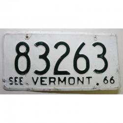 Plaque d Immatriculation USA - Vermont 1966 ( 375 )