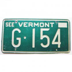 Plaque d Immatriculation USA - Vermont 1972 ( 222 )