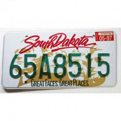 Plaque d Immatriculation USA - South Dakota 1997 ( 1013 )