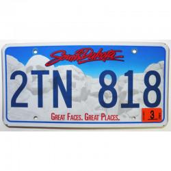 Plaque d Immatriculation USA - South Dakota  ( 350 )