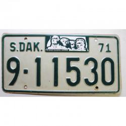 Plaque d Immatriculation USA - South Dakota 1971  ( 1158 )