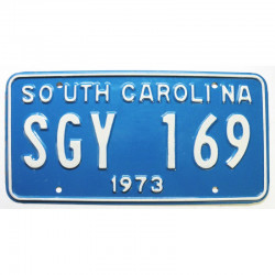 Plaque d Immatriculation USA - South Carolina 1973 ( 1274 )