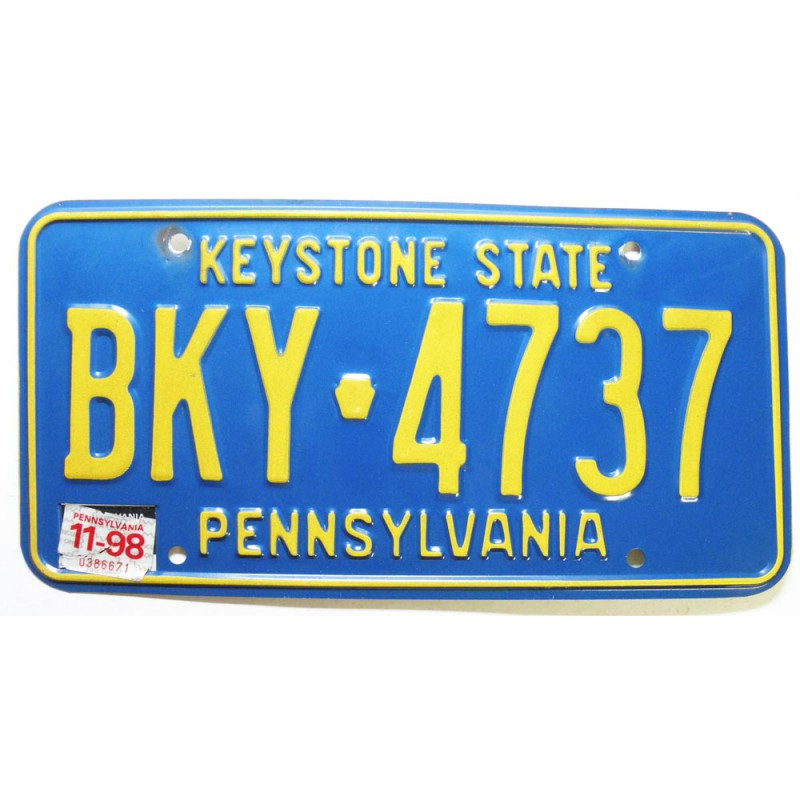Plaque d Immatriculation USA - Pennsylvania  1998 ( 207 )