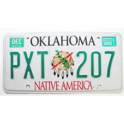 Plaque d Immatriculation USA - Oklahoma 2002 ( 257 )