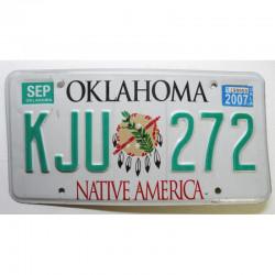 Plaque d Immatriculation USA - Oklahoma 2007 ( 794 )