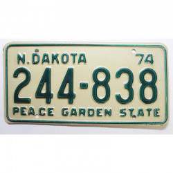 Plaque d Immatriculation USA - North Dakota 1974 ( 739 )