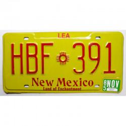 Plaque d Immatriculation USA - New Mexico  1985 ( 475 )