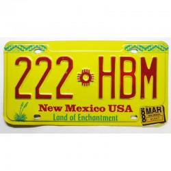 Plaque d Immatriculation USA - New Mexico  2000 ( 476 )
