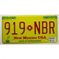 Plaque d Immatriculation USA - New Mexico  2004 ( 592 )