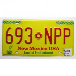 Plaque d Immatriculation USA - New Mexico  2006 ( 186 )