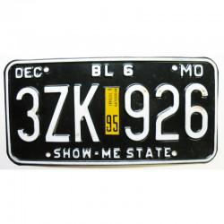 Plaque d Immatriculation USA - Missouri 1995 ( 106 )