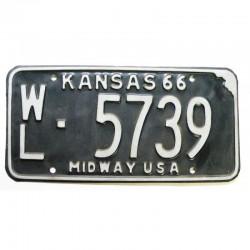 Plaque d Immatriculation USA - Kansas 1966 ( 701 )