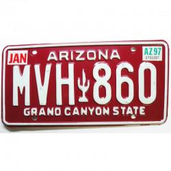 Plaque d Immatriculation USA - Arizona 1994 ( 136 )