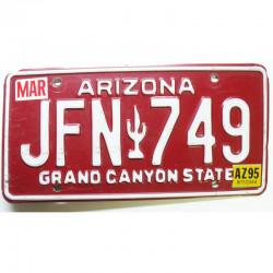 Plaque d Immatriculation USA - Arizona 1995 ( 778 )